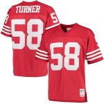 Mitchell & Ness Keena Turner San Francisco 49ers Scarlet Retired Player Replica Jersey