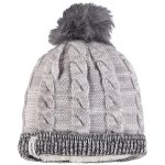 New Era Los Angeles Chargers Women's Gray/Graphite Cozy Team Cuffed Knit Hat