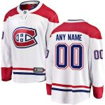 Fanatics Branded Montreal Canadiens White Away Breakaway Custom Jersey