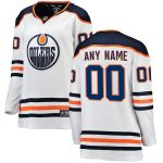 Fanatics Branded Edmonton Oilers Women's White Away Breakaway Custom Jersey