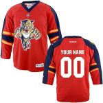 Reebok Florida Panthers Infant Replica Home Custom Jersey - Red