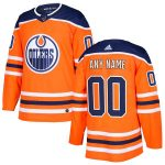 adidas Edmonton Oilers Orange Authentic Custom Jersey