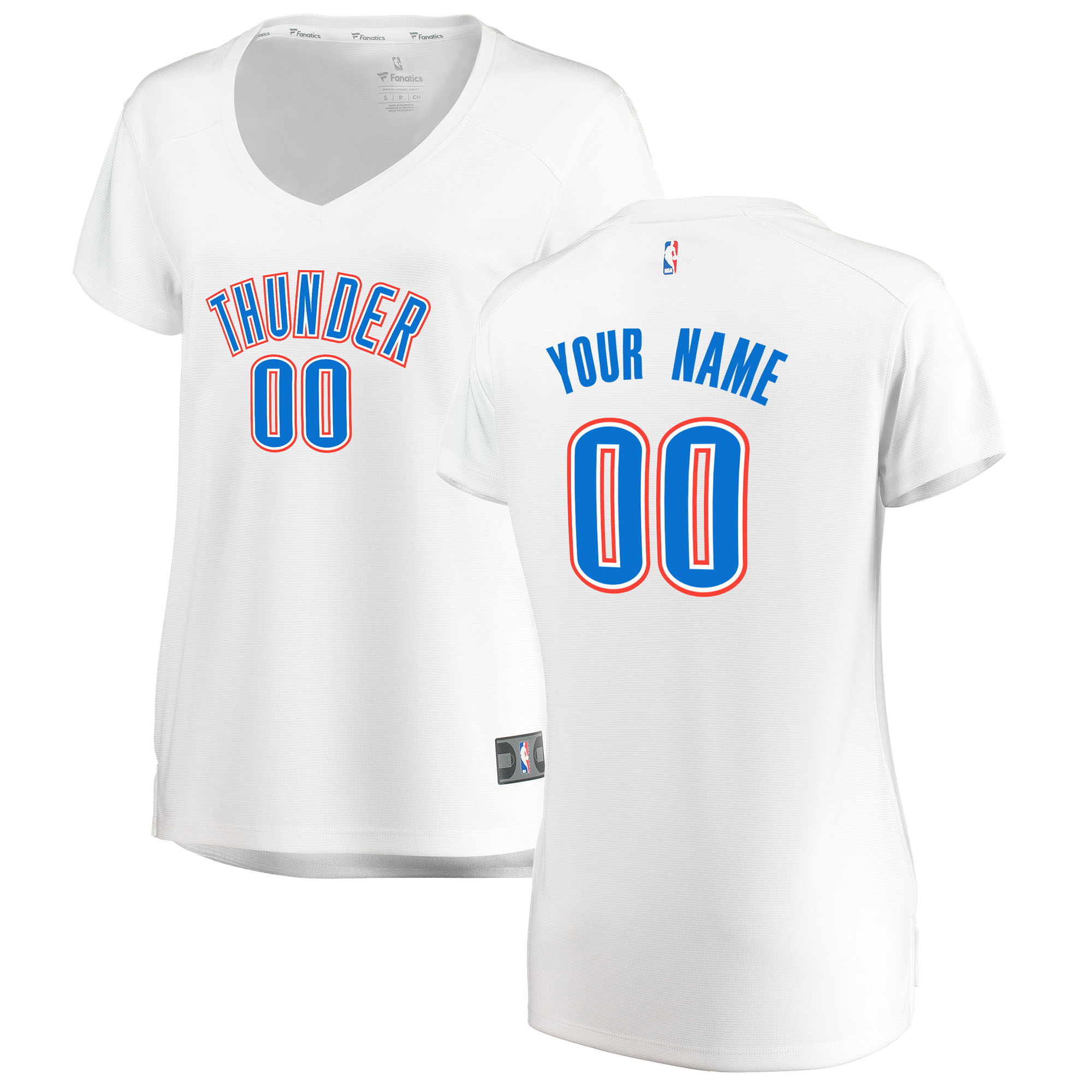 finest selection 39449 d1111 Fanatics Branded Oklahoma City Thunder Women's White Fast Break Custom  Replica Jersey – Association Edition