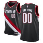 Nike Portland Trail Blazers Black Swingman Custom Jersey - Icon Edition