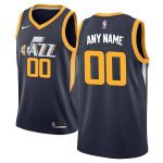 Nike Utah Jazz Navy Swingman Custom Jersey - Icon Edition