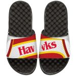 ISlide Atlanta Hawks White NBA Hardwood Classics Jersey Slide Sandals