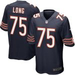 Nike Kyle Long Chicago Bears Youth Navy Blue Team Color Game Jersey
