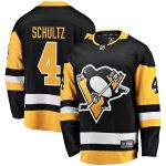Fanatics Branded Justin Schultz Pittsburgh Penguins Black Home Breakaway Player Jersey