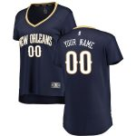 Fanatics Branded New Orleans Pelicans Women's Navy Fast Break Custom Jersey - Icon Edition