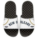 ISlide New Orleans Pelicans White Home Jersey Split Slide Sandals