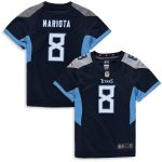 Nike Marcus Mariota Tennessee Titans Girls Youth Navy Game Jersey
