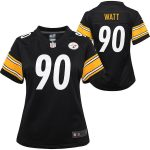 Nike T.J. Watt Pittsburgh Steelers Girls Youth Black Game Jersey