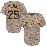 Majestic Gregory Polanco Pittsburgh Pirates Camo Alternate Official Cool Base Player Replica Jersey