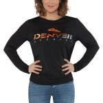 Touch by Alyssa Milano Denver Broncos Women's Black Breeze Back Long Sleeve V-Neck T-Shirt