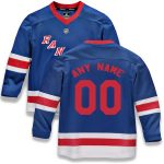 Fanatics Branded New York Rangers Youth Red Home Replica Custom Jersey