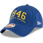 New Era Golden State Warriors Royal Established Team Front 9TWENTY Adjustable Hat