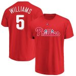 Majestic Nick Williams Philadelphia Phillies Red Official Name & Number T-Shirt