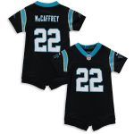 Nike Christian McCaffrey Carolina Panthers Girls Newborn & Infant Black Romper Jersey