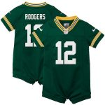 Nike Aaron Rodgers Green Bay Packers Girls Newborn & Infant Green Romper Jersey