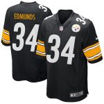 Nike Terrell Edmunds Pittsburgh Steelers Black 2018 NFL Draft First Round Pick Game Jersey