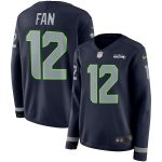 Seattle Seahawks Women's Navy Therma Long Sleeve Jersey