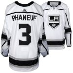 Fanatics Authentic Dion Phaneuf Los Angeles Kings Game-Used #3 White Jersey from the 2017-18 NHL Season - Size 58