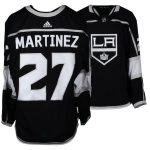 Fanatics Authentic Alec Martinez Los Angeles Kings Game-Used #27 Black Jersey from the 2017-18 NHL Season - Size 56