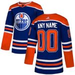 adidas Edmonton Oilers Royal Alternate Authentic Custom Jersey