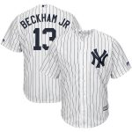 Majestic Odell Beckham Jr New York Yankees White x MLB Crossover Cool Base Player Jersey
