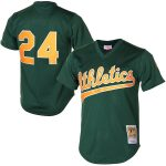 Mitchell & Ness Rickey Henderson Oakland Athletics Green 1998 Cooperstown Mesh Batting Practice Jersey