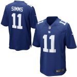 Nike Phil Simms New York Giants Royal Retired Player Game Jersey
