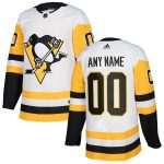 adidas Pittsburgh Penguins White Authentic Custom Jersey