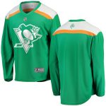 Fanatics Branded Pittsburgh Penguins Green St. Patrick's Day Replica Blank Jersey