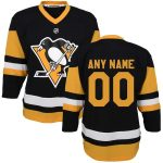 Pittsburgh Penguins Preschool Black Home Replica Custom Jersey