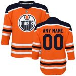 Edmonton Oilers Preschool Orange Home Replica Custom Jersey