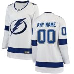 Fanatics Branded Tampa Bay Lightning Women's White Away Breakaway Custom Jersey