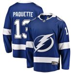 Fanatics Branded Cedric Paquette Tampa Bay Lightning Youth Blue Breakaway Player Jersey