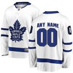Fanatics Branded Toronto Maple Leafs White Away Breakaway Custom Jersey