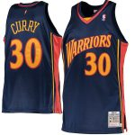 Mitchell & Ness Stephen Curry Golden State Warriors Navy 2009-10 Hardwood Classics Rookie Authentic Jersey
