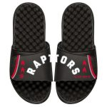 ISlide Toronto Raptors Black Statement Jersey Split Slide Sandals