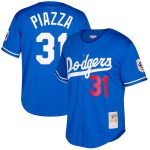 Mitchell & Ness Mike Piazza Los Angeles Dodgers Royal Big & Tall Cooperstown Collection Mesh Button-Up Jersey