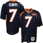 Mitchell & Ness John Elway Denver Broncos Navy Blue Authentic Throwback Jersey