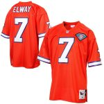 Mitchell & Ness John Elway Denver Broncos Orange Silver Anniversary Authentic Throwback Jersey