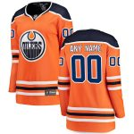 Fanatics Branded Edmonton Oilers Women's Orange Home Breakaway Custom Jersey