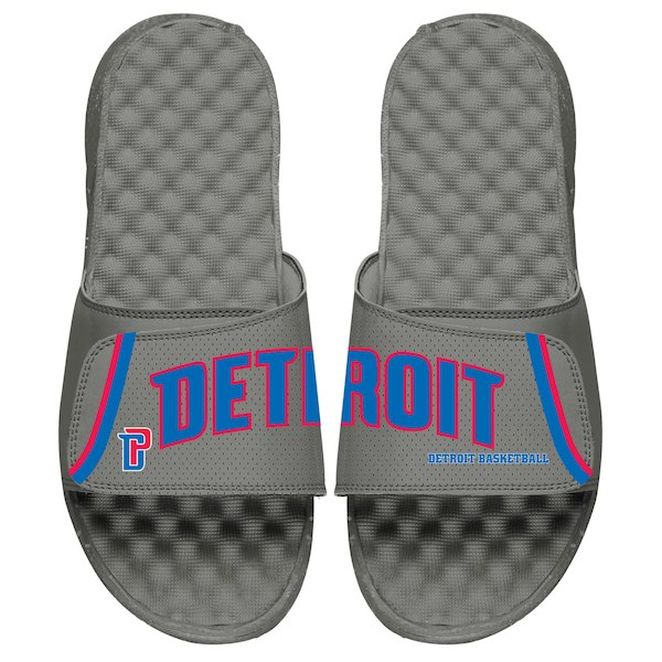 e71d2e0f9f5 ISlide Detroit Pistons Youth Gray Statement Jersey Split Slide Sandals - Gear  Up For Sports