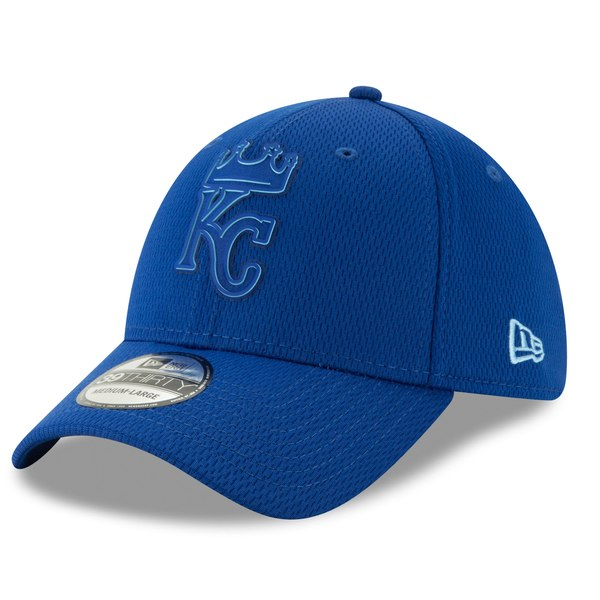 finest selection d87fc b2408 New Era Kansas City Royals Royal 2019 Clubhouse Collection 39THIRTY Flex Hat  - Gear Up For Sports