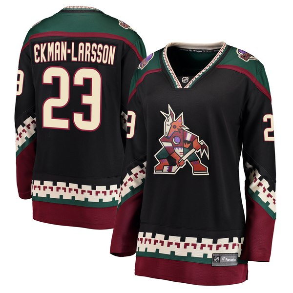 711528349 Fanatics Branded Oliver Ekman-Larsson Arizona Coyotes Women s Black Breakaway  Alternate Player Jersey - Gear Up For Sports