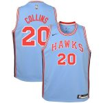 Nike John Collins Atlanta Hawks Youth Blue Hardwood Classics Swingman Jersey