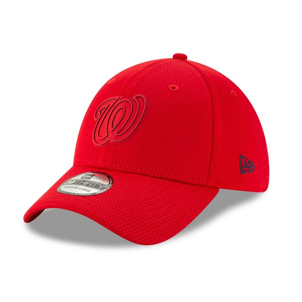 new concept 26fac 568cf New Era Washington Nationals Red 2019 Clubhouse Collection 39THIRTY Flex Hat  - Gear Up For Sports
