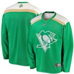 Fanatics Branded Pittsburgh Penguins Green 2019 St. Patrick's Day Replica Jersey